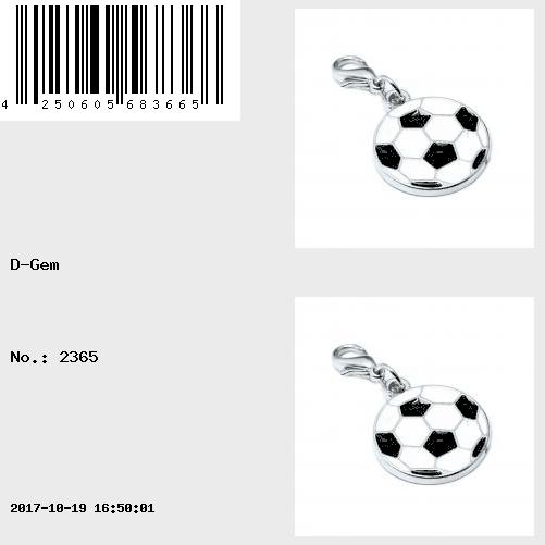Charm ballon de football par Charming Charms