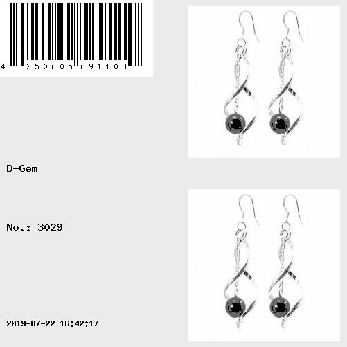 Earrings in Hematite on sterling silver hooks
