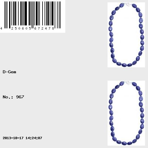 60cm Necklace composed of high quality Lapis lazuli cut in Oval shape