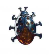 pin insect amber resin 4x3 cm