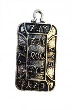 Egyptian style pendant with hieroglyphics and ancient writings 3x2cm